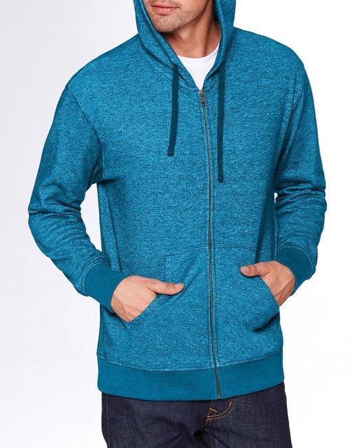 Next Level Adult Denim Fleece Full-Zip Hoody - Turquoise