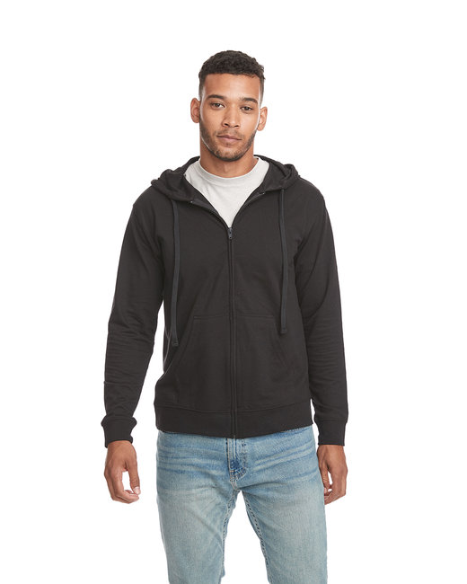 Next Level Adult French Terry Zip Hoody - Black/ Black