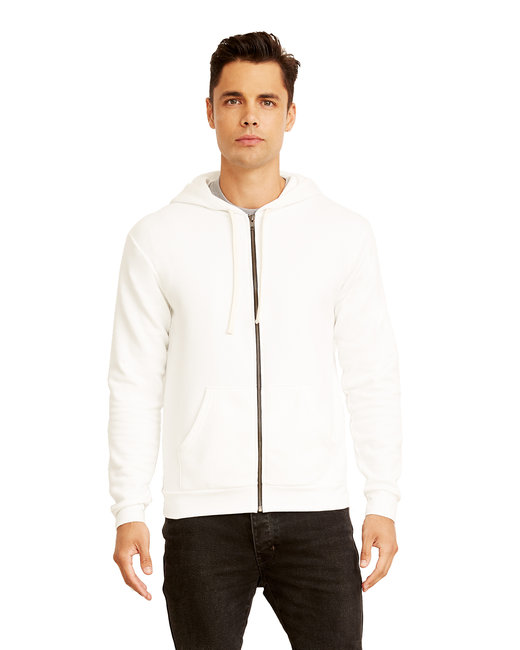Next Level Unisex Zip Hoody - White