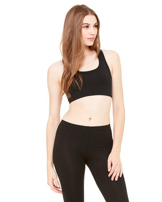 Bella + Canvas Ladies' Nylon/Spandex Sports Bra - Black