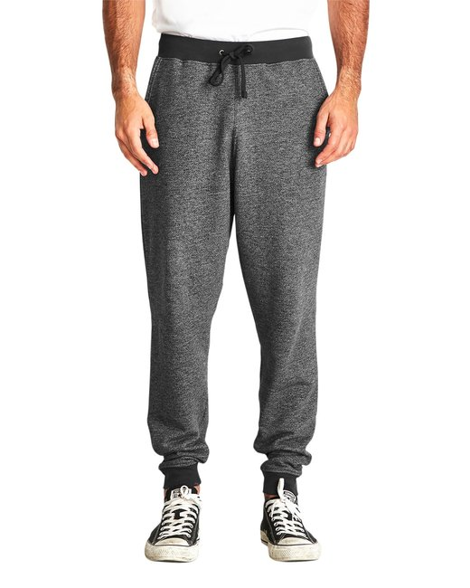 Next Level Men's Denim Fleece Jogger - Black