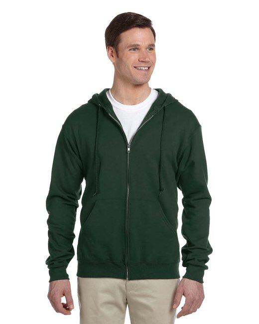 Jerzees Adult 8 oz. NuBlend® Fleece Full-Zip Hood - Forest Green