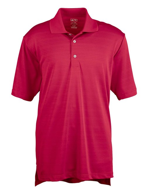 Adidas Men's climalite Textured Short-Sleeve Polo - Power Red