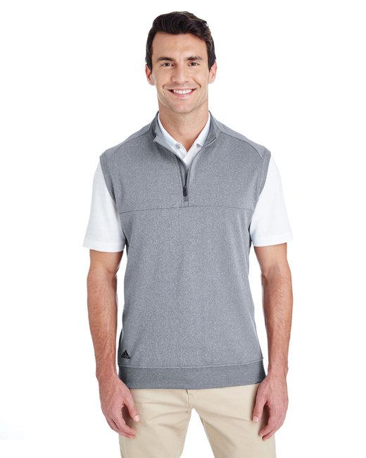 Adidas Men's Quarter-Zip Club Vest - Vista Grey/ Hth