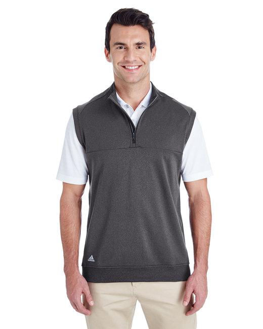 Adidas Men's Quarter-Zip Club Vest - Black Heather