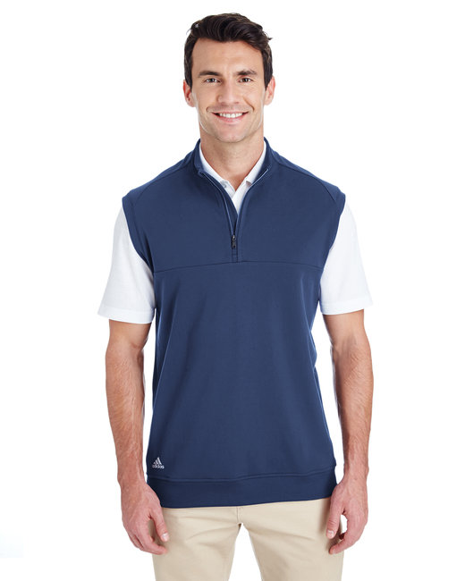 Adidas Men's Quarter-Zip Club Vest - Dark Slate
