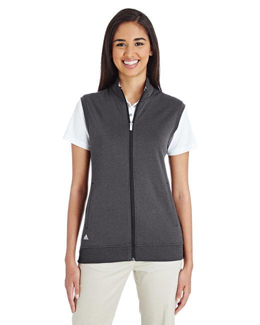 Adidas Ladies' Full-Zip Club Vest - Black Heather