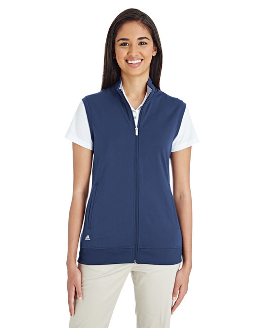 Adidas Ladies' Full-Zip Club Vest - Dark Slate