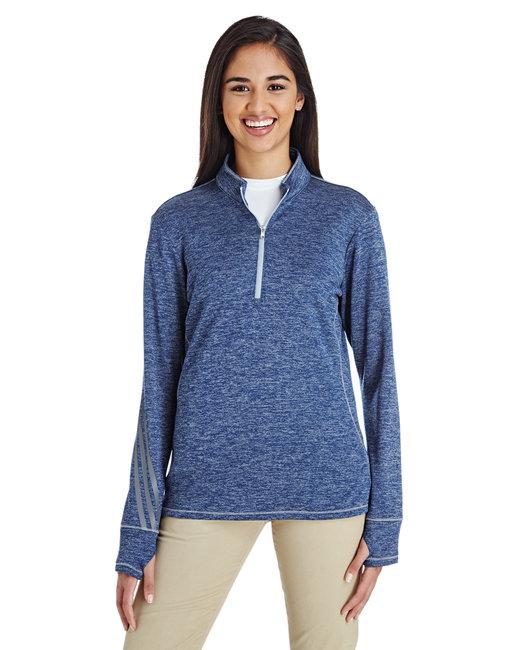 huge selection of 5b99e 8234e A285. adidas Golf Ladies  3-Stripes Heather Quarter-Zip