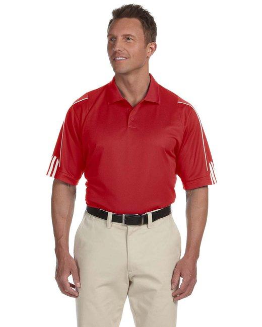 Adidas Men's climalite 3-Stripes Cuff Polo - P0Wer Red/ Wht