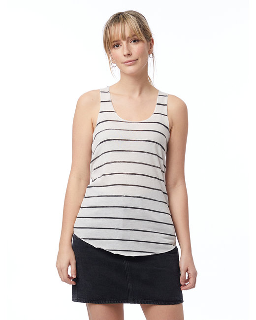 Alternative Ladies' Meegs Printed Racerback Eco-Jersey™ Tank - Eco Ivry Ink Str