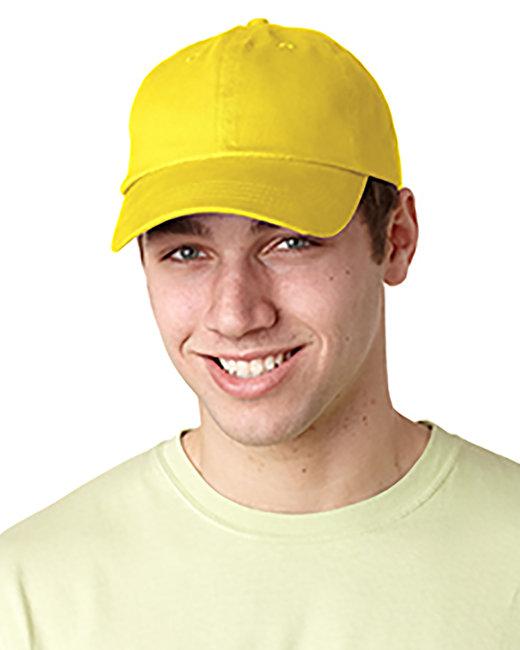 Adams Brushed Cotton Six-Panel Twill Cap - Lemon