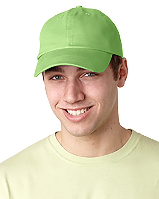 Adams Brushed Cotton Six-Panel Twill Cap - Lime