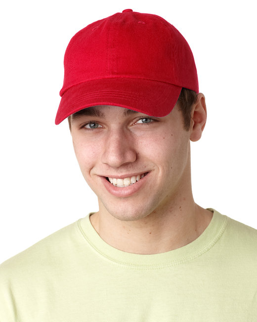Adams Brushed Cotton Six-Panel Twill Cap - Red