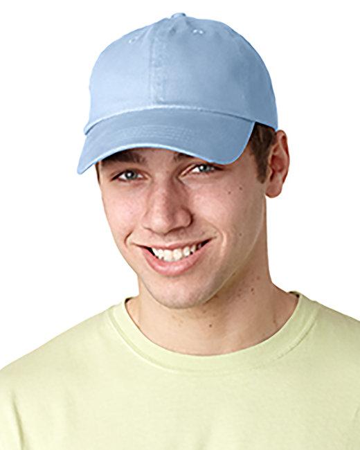 Adams Brushed Cotton Six-Panel Twill Cap - Baby Blue
