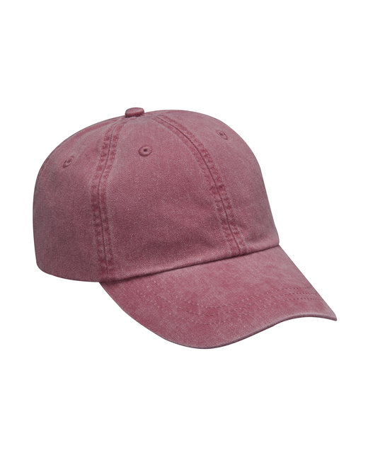 Adams Cotton Twill Essentials Pigment-dyed Cap - Nautical Red