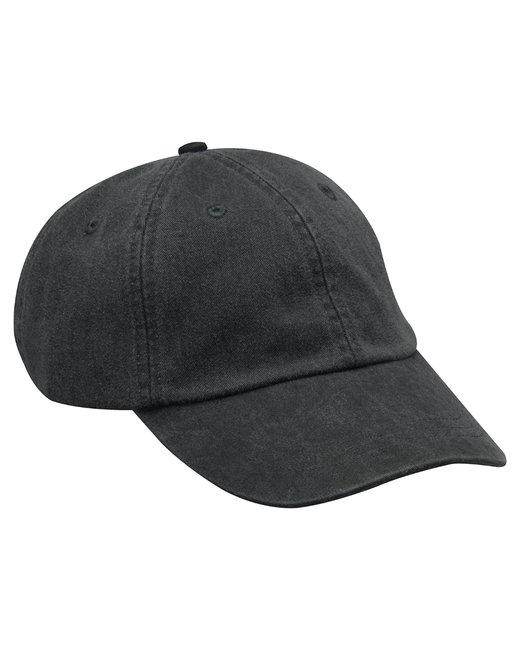 Adams Cotton Twill Essentials Pigment-dyed Cap - Black