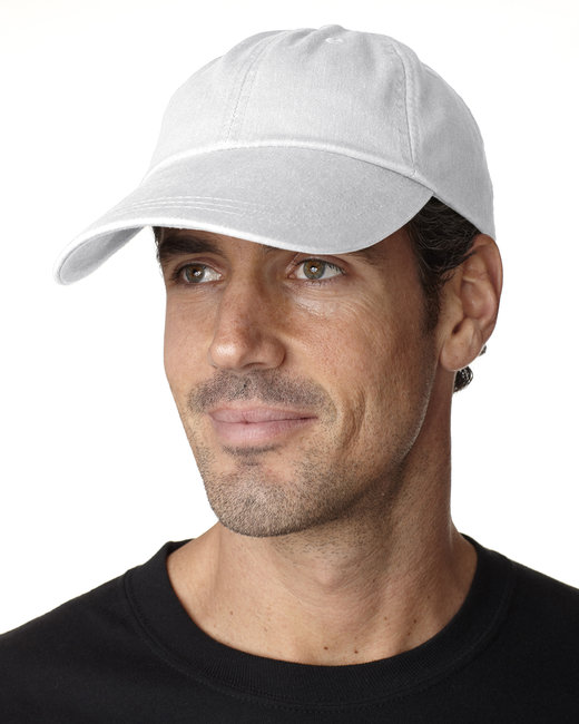 Adams Cotton Twill Pigment-Dyed Sunbuster Cap - White