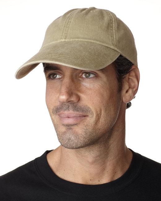 Adams Cotton Twill Pigment-Dyed Sunbuster Cap - Khaki