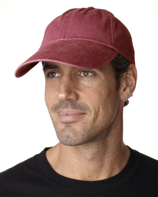 Adams Cotton Twill Pigment-Dyed Sunbuster Cap - Nautical Red
