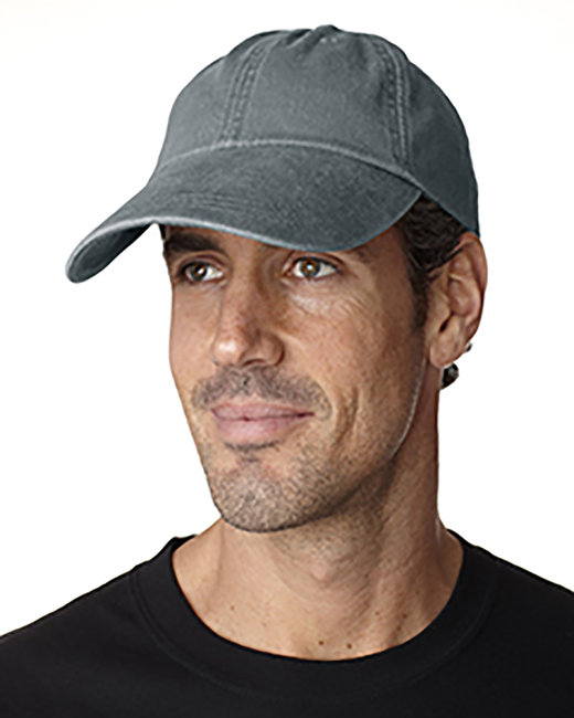 Adams Cotton Twill Pigment-Dyed Sunbuster Cap - Charcoal