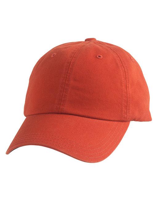 Alternative Basic Chino Twill Cap - Tangerine