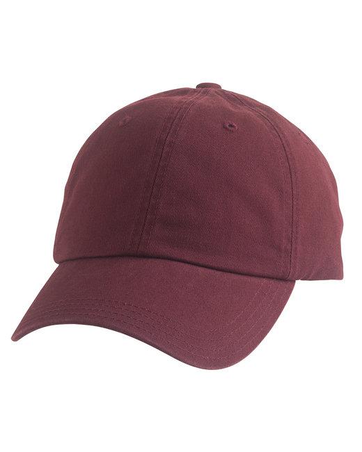 Alternative Basic Chino Twill Cap - Maroon