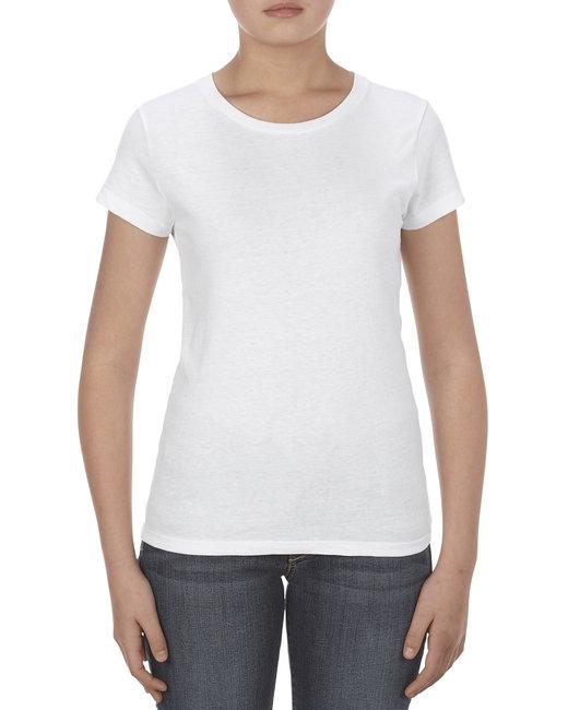 Alstyle Missy 4.3 oz., Ringspun Cotton T-Shirt - White