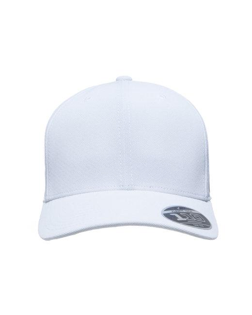 Team 365 by Flexfit Adult Cool & Dry Mini Pique Performance Cap - White