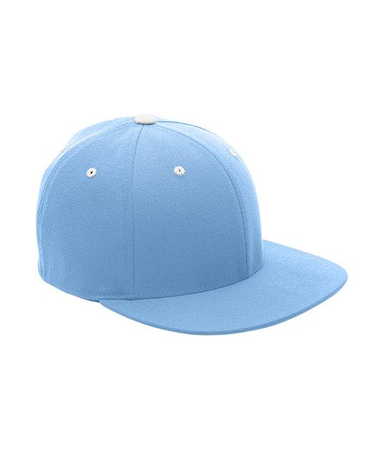 Team 365 by Flexfit Adult Pro-Formance® Contrast Eyelets Cap - Sp Lt Blue/ Wht