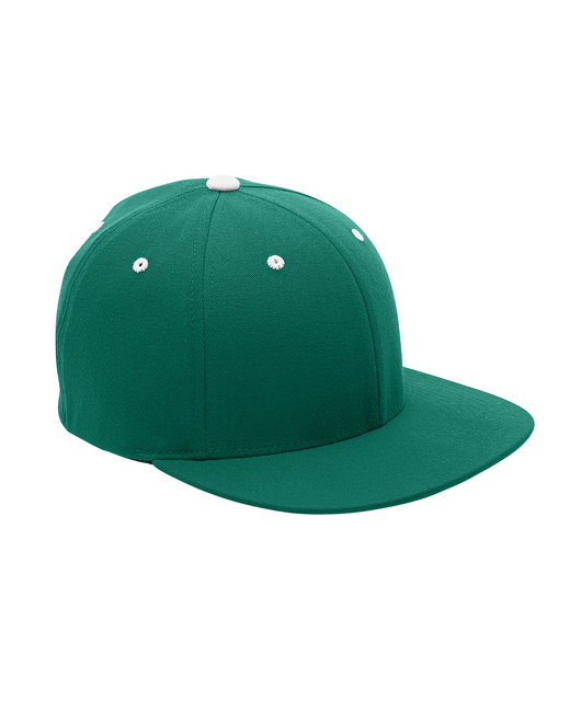 Team 365 by Flexfit Adult Pro-Formance® Contrast Eyelets Cap - Sp Forest/ White