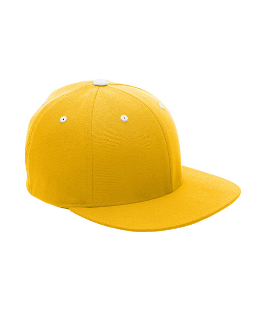 Team 365 by Flexfit Adult Pro-Formance® Contrast Eyelets Cap - Sp Ath Gold/ Wht