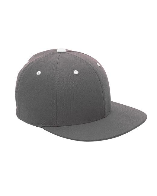 Team 365 by Flexfit Adult Pro-Formance® Contrast Eyelets Cap - Sp Graphite/ Wht