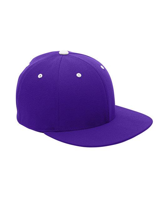 Team 365 by Flexfit Adult Pro-Formance® Contrast Eyelets Cap - Sp Purple/ White