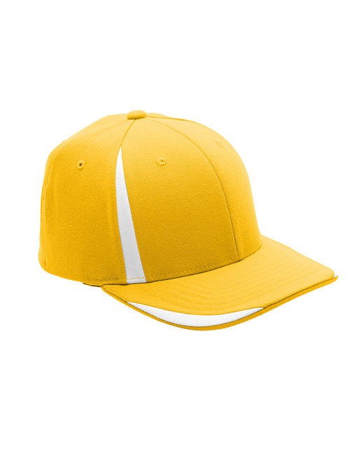 Team 365 by Flexfit Adult Pro-Formance® Front Sweep Cap - Sp Ath Gold/ Wht