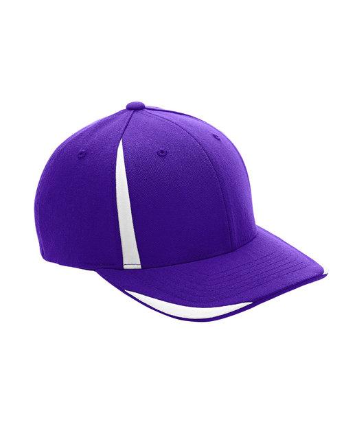 Team 365 by Flexfit Adult Pro-Formance® Front Sweep Cap - Sp Purple/ White