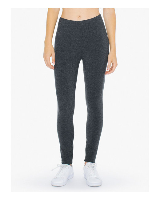 American Apparel Ladies' Cotton Spandex Winter Leggings - Charcoal