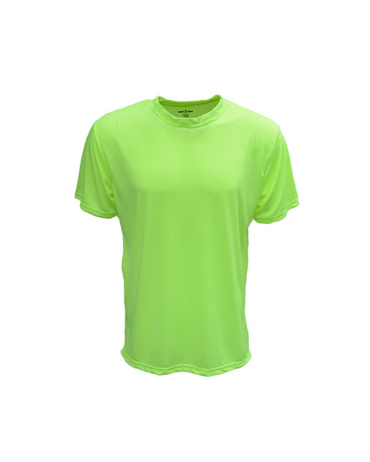 Bright Shield Adult Performance Basic Tee - Safety Green