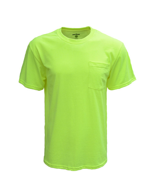 Bright Shield Adult Pocket Tee - Safety Green