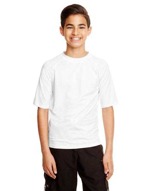 Burnside Youth Rash Guard T-Shirt - White