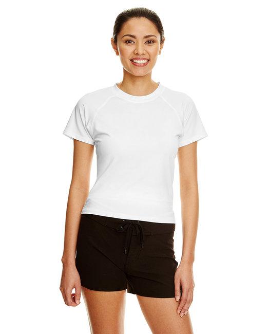 Burnside Ladies Rash Guard T-Shirt - White