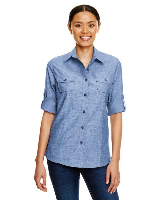 Burnside Ladies Chambray Woven Shirt - Light Denim