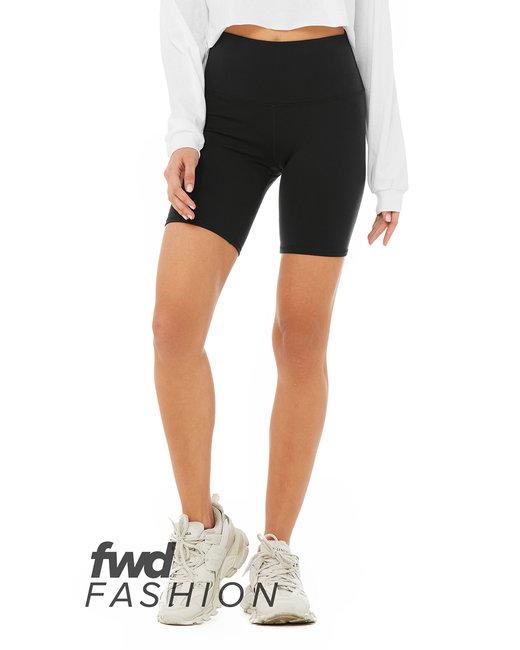 Bella + Canvas FWD Fashion Ladies' High Waist Biker Short - Black
