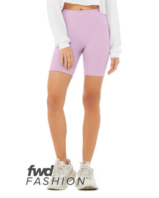 Bella + Canvas FWD Fashion Ladies' High Waist Biker Short - Lilac