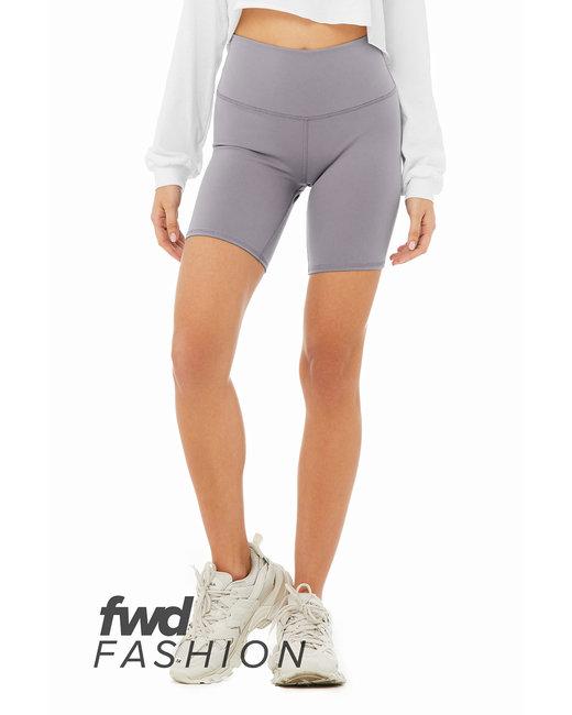 Bella + Canvas FWD Fashion Ladies' High Waist Biker Short - Storm