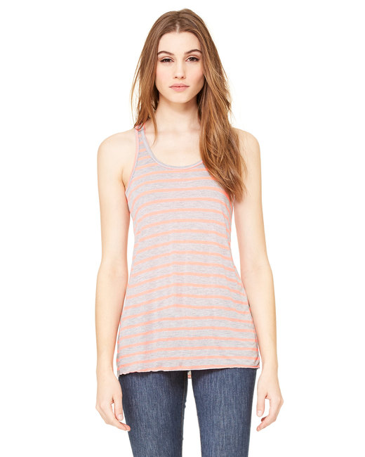 Bella + Canvas Ladies' Flowy Racerback Tank - Str Ath Ht/ N Pk