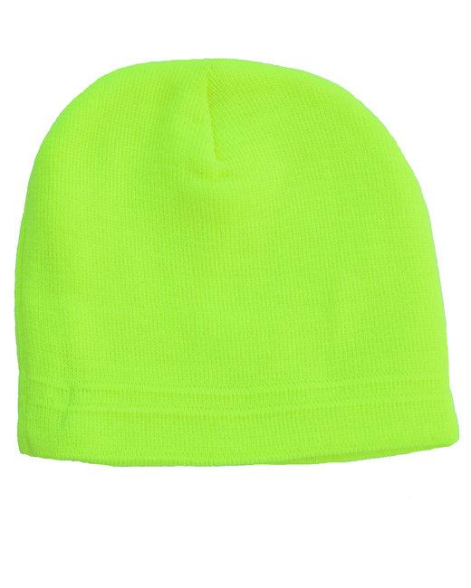 Bright Shield Knit Beanie - Safety Green