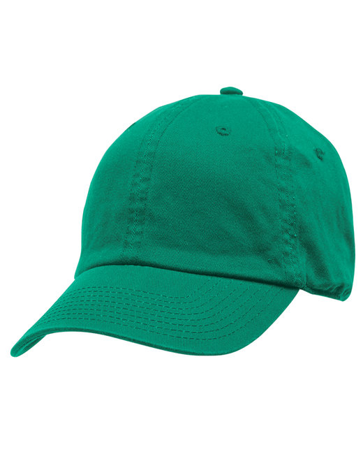Bayside 100% Washed Chino Cotton Twill Unstructured Cap - Kelly Green