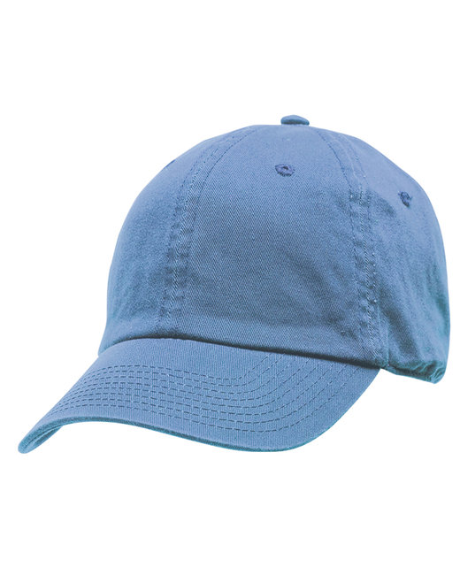 Bayside 100% Washed Chino Cotton Twill Unstructured Cap - Carolina Blue