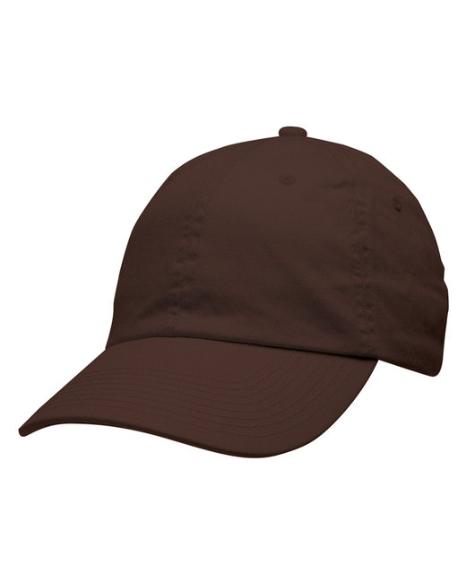 Bayside 100% Washed Chino Cotton Twill Unstructured Cap - Chocolate